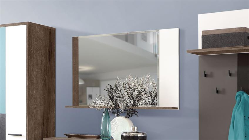 Spiegel RAVEN Wandpsiegel in Schlammeiche weiß 105 cm