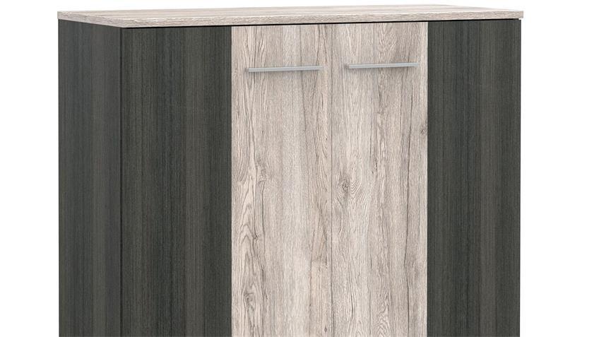 Kommode PEDINA Sideboard in Sandeiche Touchwood 100