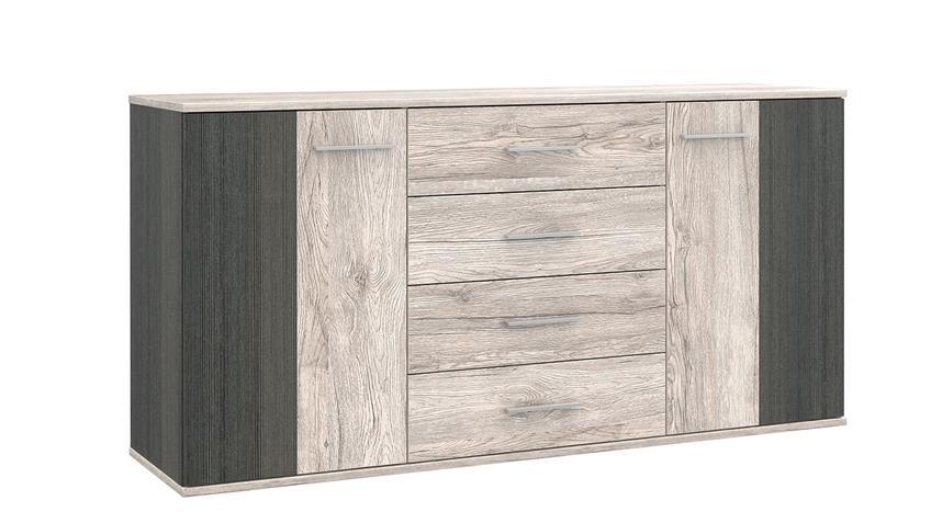 Sideboard PEDINA Kommode in Sandeiche Touchwood 164