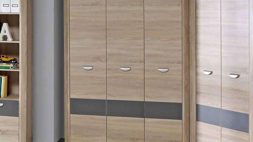 Kleiderschrank YOOK Schrank in Sonoma Eiche grau anthrazit