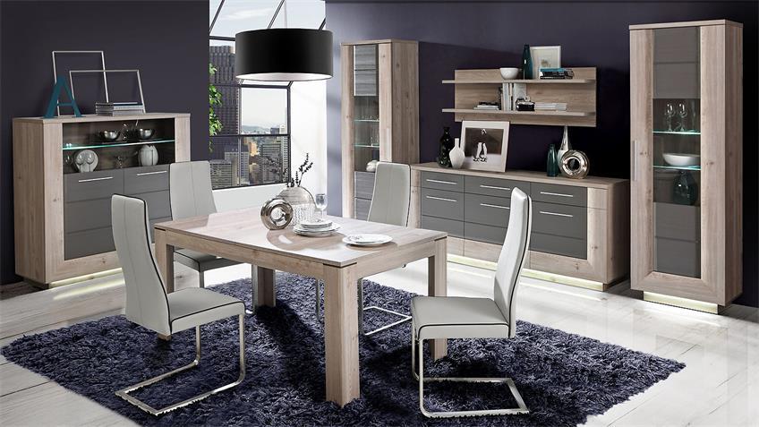 Esstisch STAIRS Tisch Esszimmertisch Nelsoneiche ausziehbar