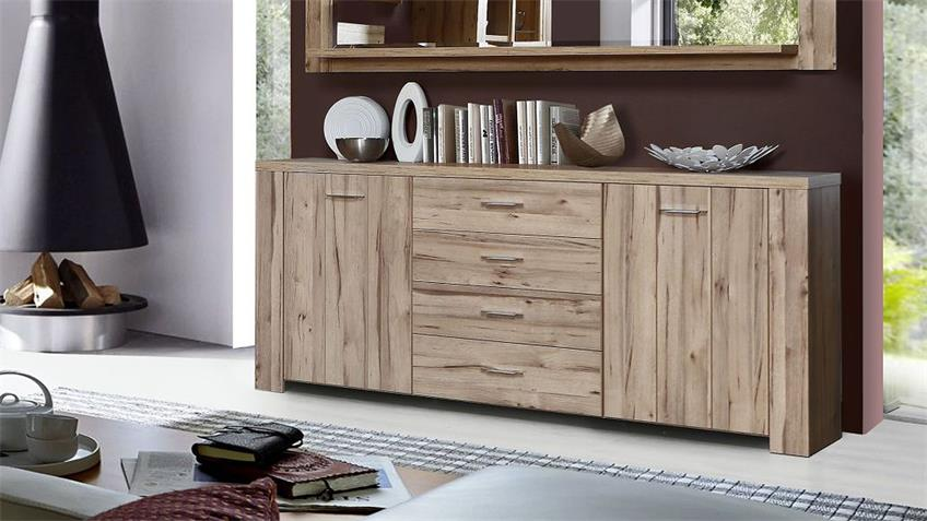 Sideboard CUBANA Kommode Anrichte in planked Eiche
