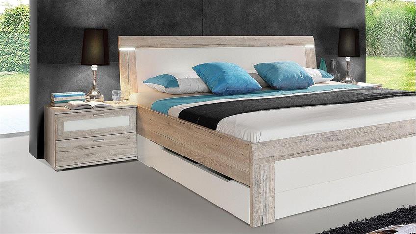 Schlafzimmer BROADWAYS Schlafzimmerset Sandeiche weiß