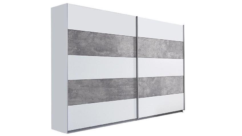Schwebet renschrank ginger kleiderschrank wei und betonoptik lichtgrau - Kleiderschrank betonoptik ...