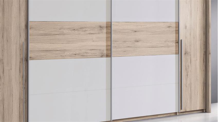 schwebet renschrank cool schrank 320 cm in sandeiche dunkel und wei. Black Bedroom Furniture Sets. Home Design Ideas