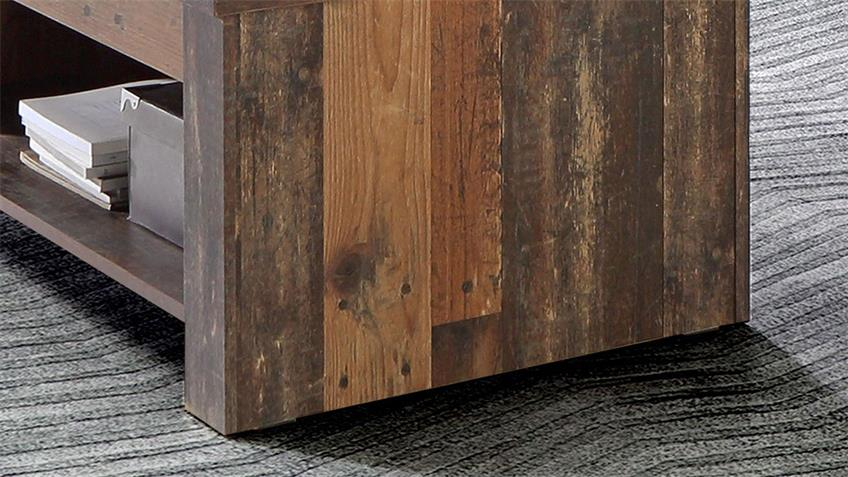 Couchtisch CLIF in old wood vintage hochklappbar 110x65 cm