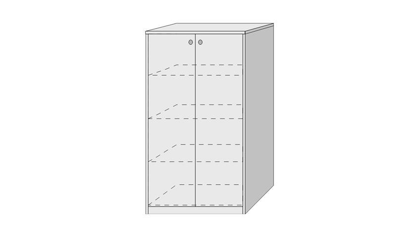 Kommode TEMPRA Büroschrank Sonoma Eiche und weiß 72x111