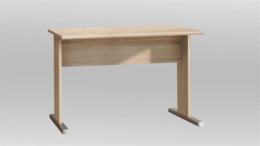 Schreibtisch TEMPRA Bürotisch in Sonoma Eiche 108x72