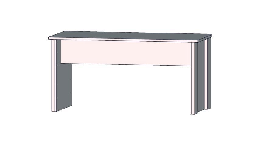 Schreibtisch CLIF old wood vintage Beton dunkelgrau 153x70
