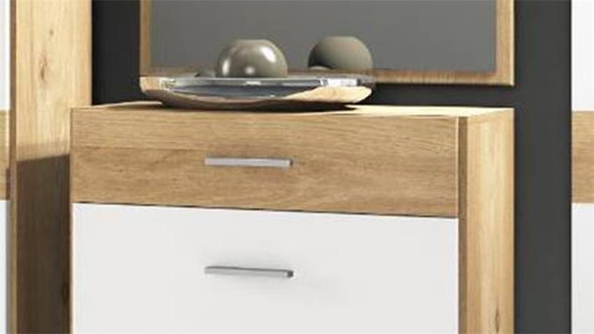 schuhschrank venido kommode in wei und iconic buche. Black Bedroom Furniture Sets. Home Design Ideas