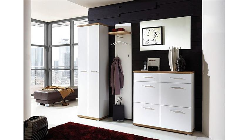 garderobenschrank top wei und sonoma eiche germania. Black Bedroom Furniture Sets. Home Design Ideas