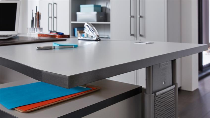 Schreibtisch PROFI grau höhenverstelbar 68-80 Germania