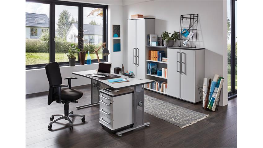 Aktenschrank 0657 PROFI Büroschrank Schrank in grau von Germania