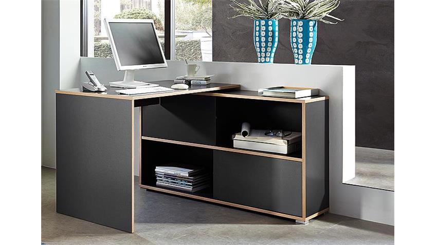 Schreibtisch SLIDE anthrazit und Sonoma Eiche Germania