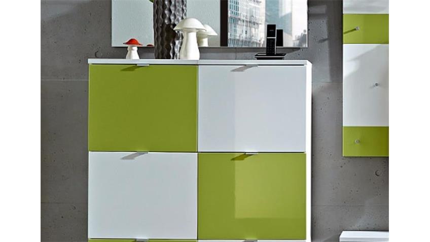 Garderobe COLORADO Set in weiß grün GERMANIA
