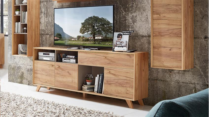Sideboard CALVI Kommode TV-Board Navarra Eiche Steingrau von Germania