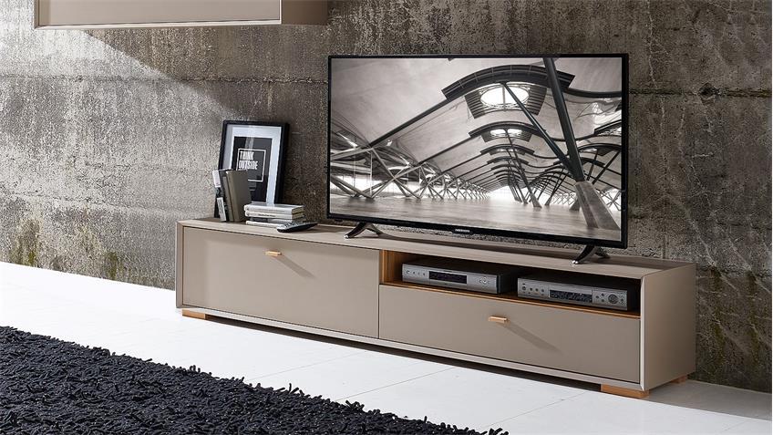 Lowboard CALVI TV-Board in Steingrau und Navarra Eiche von Germania