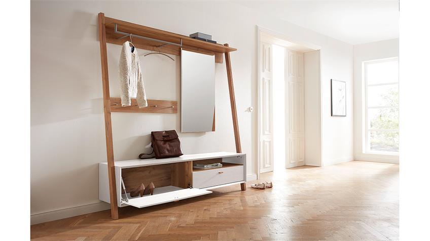 Garderobe CALVI Flurmöbel in Pinie weiß Navarra Eiche von Germania