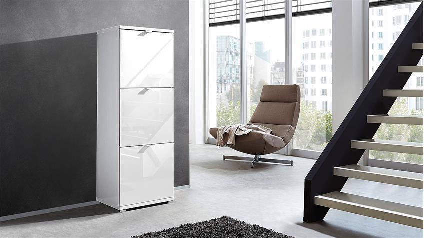 schuhschrank colorado garderobe wei hochglanz von germania. Black Bedroom Furniture Sets. Home Design Ideas