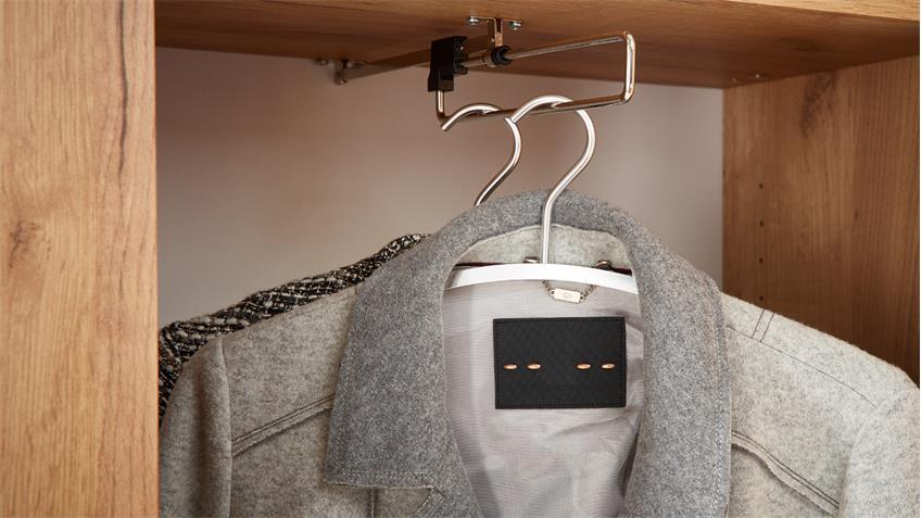 Garderobenschrank CASTERA Garderobe Spiegel Navarra Eiche von Germania