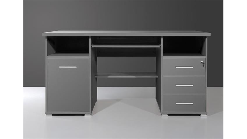 schreibtisch 0484 in anthrazit abschlie bar germania. Black Bedroom Furniture Sets. Home Design Ideas