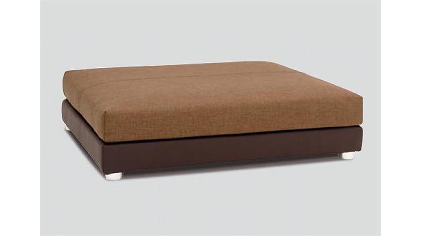 Ecksofa PROMO Sofa in braun Lederlook wellenunterfedert