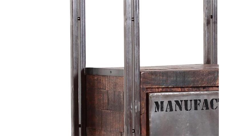 regal i titan metall antikfarben lackiert und mango massiv. Black Bedroom Furniture Sets. Home Design Ideas
