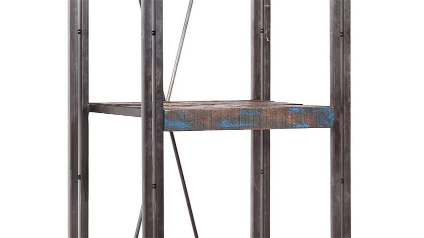 Regal II TITAN Metall antikfarben lackiert und Mango massiv
