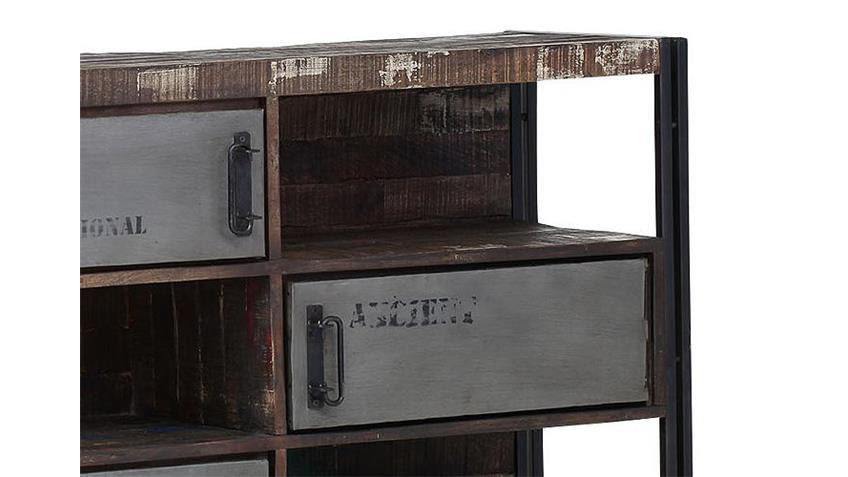 Sideboard TITAN Metall antikfarben lackiert und Mango massiv