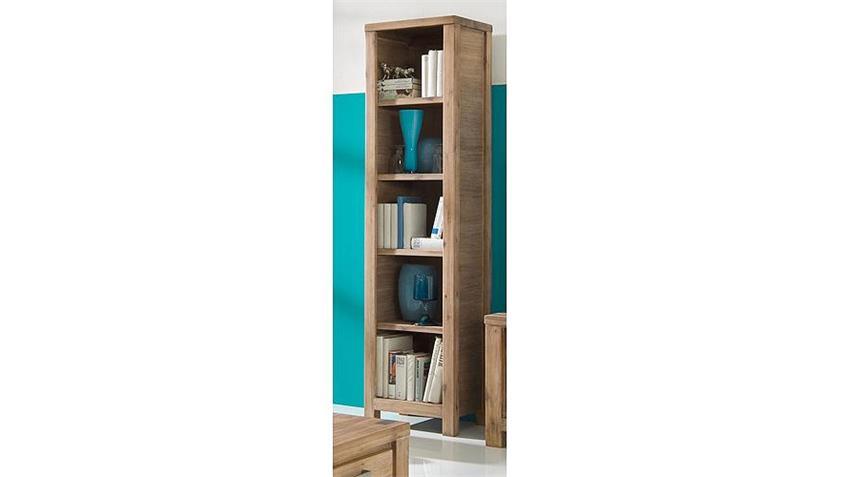 Bücherregal TUNIS Akazie teilmassiv sandfarbig