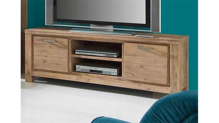 TV-Board TUNIS Akazie teilmassiv sandfarbig