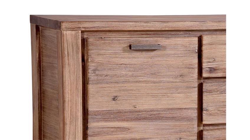 Sideboard TUNIS Akazie teilmassiv sandfarbig