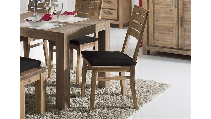 4er Set Stuhl TUNIS Akazie massiv sandfarbig