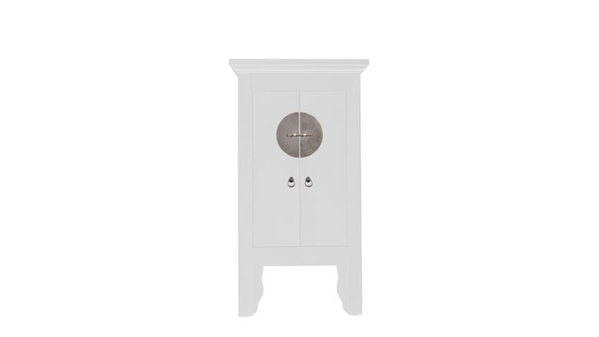 Hochzeitsschrank 60 cm Asia Stil Schrank in weiß lackiert