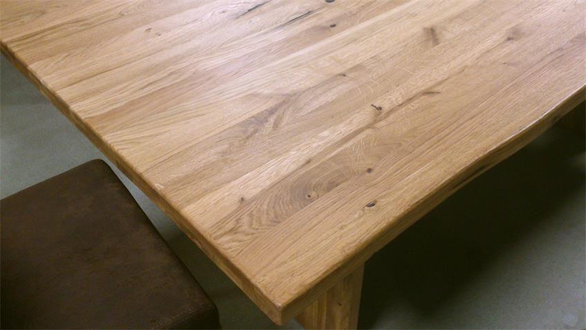 Esstisch WEIMAR Wildeiche massiv geölt 200x100 cm