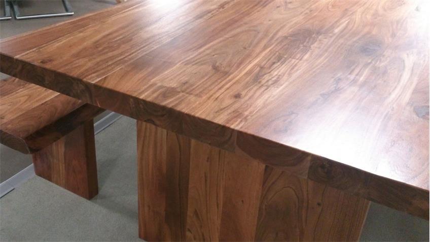 Baumtisch RIVA Akazie Esstisch Massivholz lackiert 210 x 110 cm