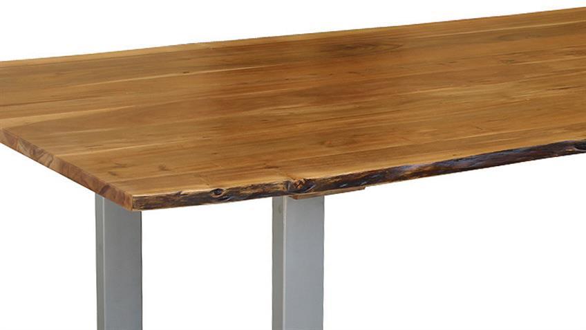 Esstisch AGRA Massivholz Akazie 160x90 cm mit original Baumkante