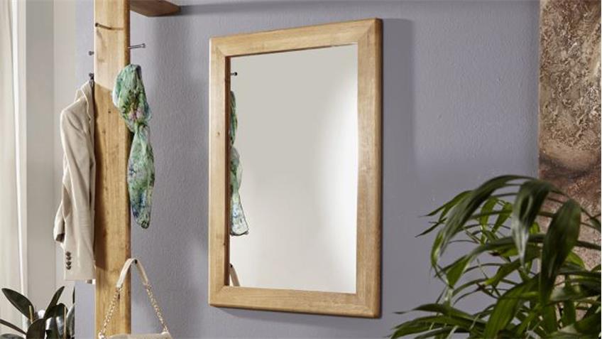 Wandspiegel Spiegel GILGA in Wildeiche massiv geölt 70x100 cm