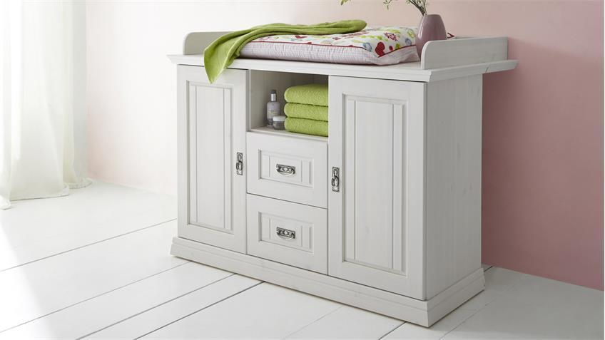 wickelkommode odette wickeltisch in kiefer wei. Black Bedroom Furniture Sets. Home Design Ideas
