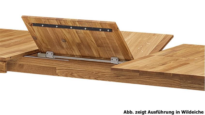 Ausziehtisch Geka Esstisch Kernbuche massiv geölt 160-290x90 cm