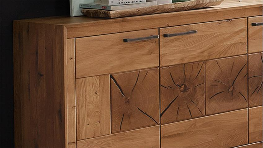 sideboard 1 gaja anrichte wildeiche massiv natur ge lt mit. Black Bedroom Furniture Sets. Home Design Ideas