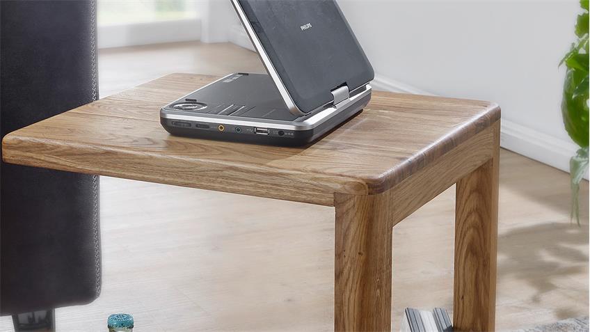 Beistelltisch Wildeiche massiv geölt Laptoptisch KM-0240