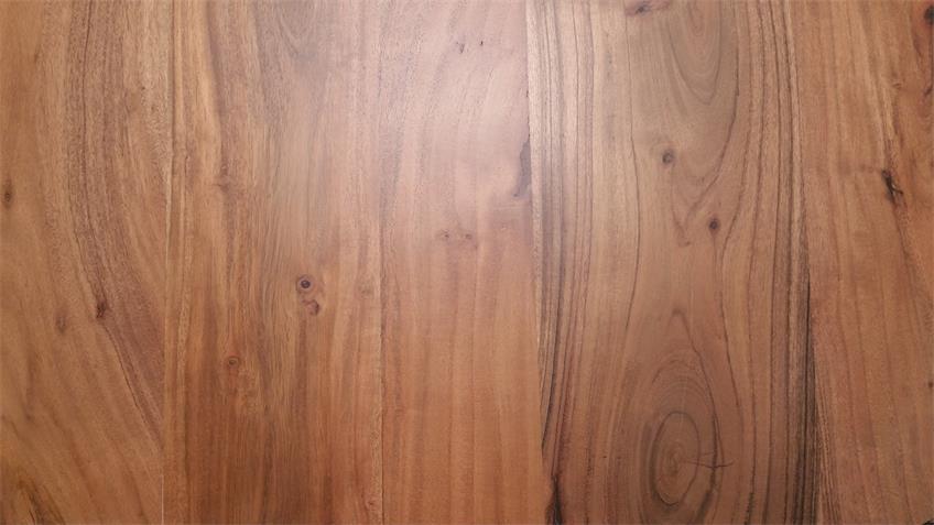 Couchtisch Gigi Holz Akazie massiv Metall schwarz 80x80 cm