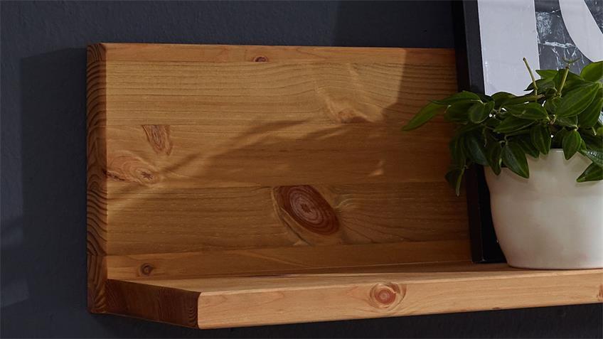 Wandboard GARDA 1 Kiefer eichefarbig geölt Regal 110 cm