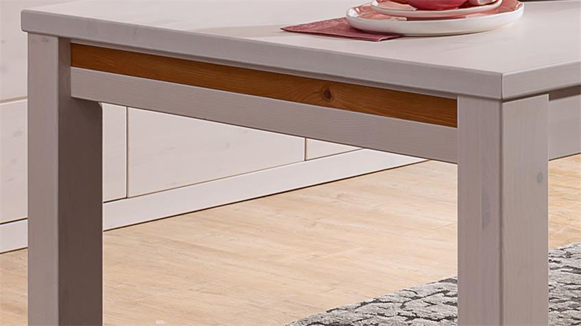 Esstisch GARDA Kiefer weiß eichefarbig Esszimmertisch 180x90 cm