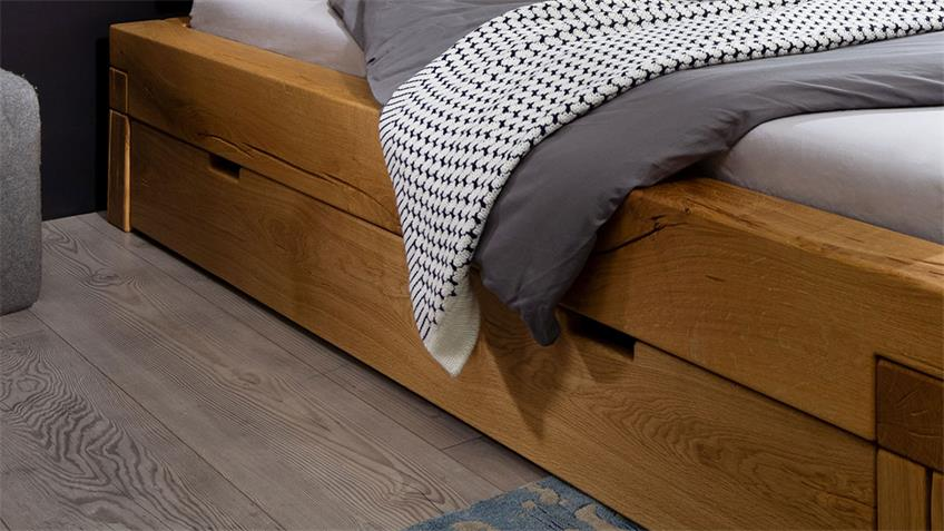 Balkenbett GROVE Bettensystem Bett V1 Wildeiche 140x200