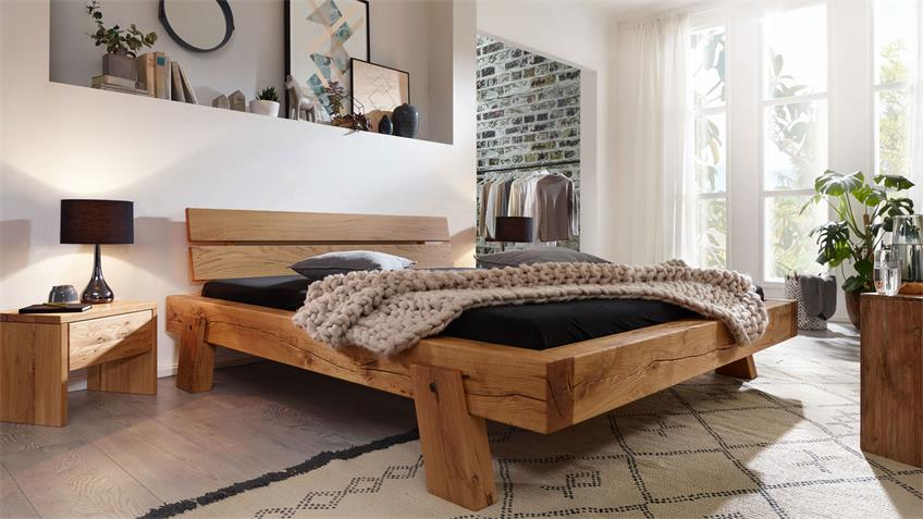 Balkenbett GROVE Bettensystem Bett V4 Wildeiche 140x200