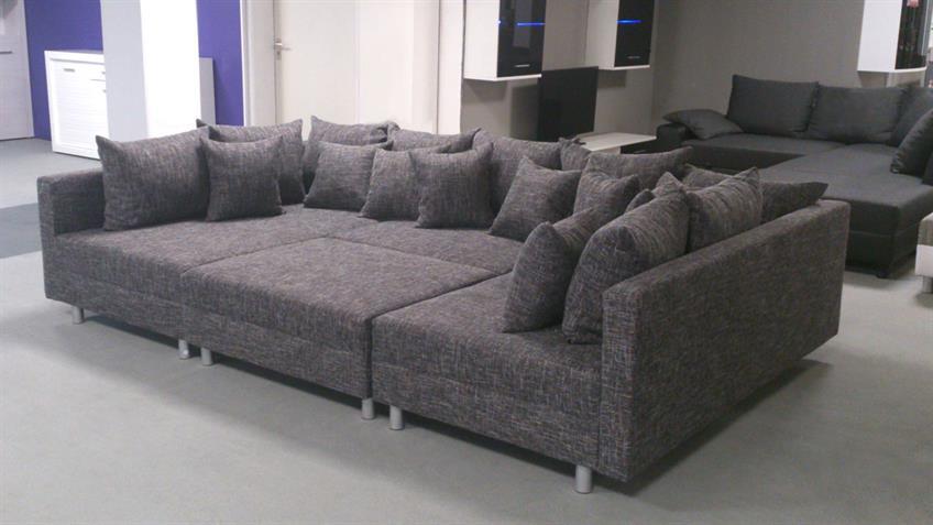 wohnlandschaft claudia xxl stoff lawa 17 mit hocker. Black Bedroom Furniture Sets. Home Design Ideas