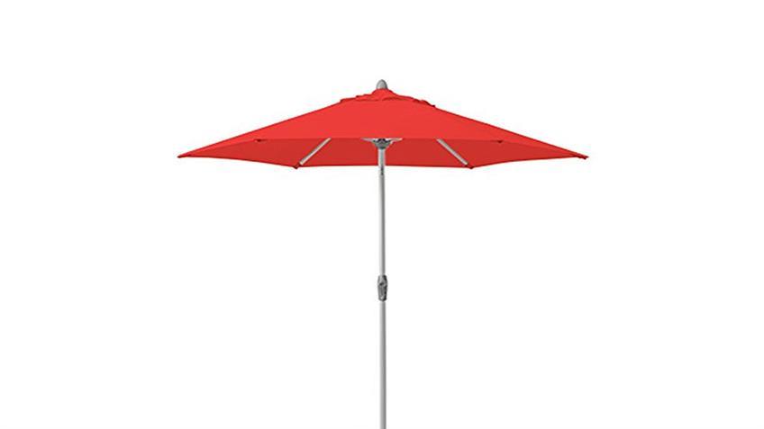 Sonnenschirm Push-Up rot Ø 200 cm einfache Push-Up Funktion