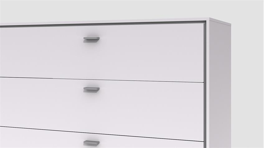 Sideboard VELINA weiß Hochglanz lackiert Finelineoptik